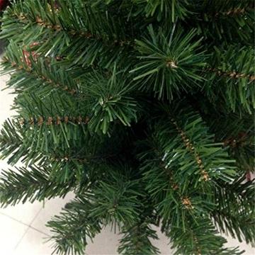 HENGMEI 210cm PVC Weihnachtsbaum Tannenbaum Christbaum Grün künstlicher mit Metallständer ca. 750 Spitzen Lena Weihnachtsdeko (Grün PVC, 210cm) - 4