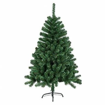 HENGMEI 210cm PVC Weihnachtsbaum Tannenbaum Christbaum Grün künstlicher mit Metallständer ca. 750 Spitzen Lena Weihnachtsdeko (Grün PVC, 210cm) - 1