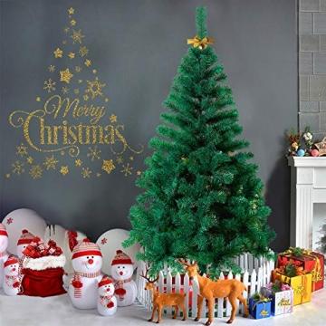 HENGMEI 210cm PVC Weihnachtsbaum Tannenbaum Christbaum Grün künstlicher mit Metallständer ca. 750 Spitzen Lena Weihnachtsdeko (Grün PVC, 210cm) - 5
