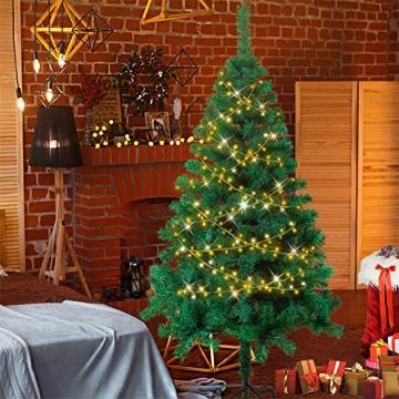 HENGMEI 210cm PVC Weihnachtsbaum Tannenbaum Christbaum Grün künstlicher mit Metallständer ca. 750 Spitzen Lena Weihnachtsdeko (Grün PVC, 210cm) - 6