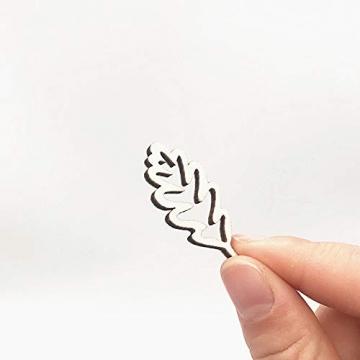 Holzscheiben Holz Blätter Deko Blätter Form Holzscheiben Hohlen Design Holz Anhänger Hochzeit Basteln Baumschmuck Holz für DIY Handwerk Dekohänger Hochzeit Weihnachten Blatt Formen Dekoration 50PCS - 3