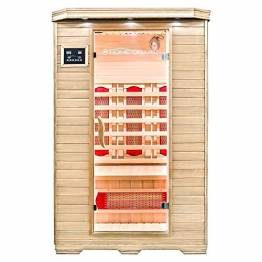 Home Deluxe – Infrarotkabine – Redsun M – Vollspektrumstrahler – Holz: Hemlocktanne - Maße: 120 x 105 x 190 cm | Infrarotsauna für 2 Personen, Infrarot, Kabine - 1