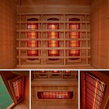 Home Deluxe – Infrarotkabine – Redsun M – Vollspektrumstrahler – Holz: Hemlocktanne - Maße: 120 x 105 x 190 cm   Infrarotsauna für 2 Personen, Infrarot, Kabine - 4