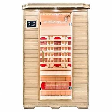 Home Deluxe – Infrarotkabine – Redsun M – Vollspektrumstrahler – Holz: Hemlocktanne - Maße: 120 x 105 x 190 cm   Infrarotsauna für 2 Personen, Infrarot, Kabine - 1