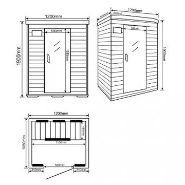 Home Deluxe – Infrarotkabine – Redsun M – Vollspektrumstrahler – Holz: Hemlocktanne - Maße: 120 x 105 x 190 cm   Infrarotsauna für 2 Personen, Infrarot, Kabine - 6