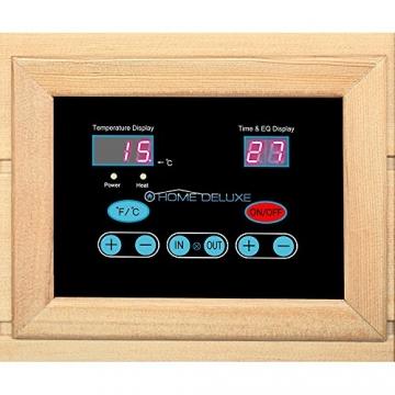Home Deluxe – Infrarotkabine – Redsun M – Vollspektrumstrahler – Holz: Hemlocktanne - Maße: 120 x 105 x 190 cm   Infrarotsauna für 2 Personen, Infrarot, Kabine - 9