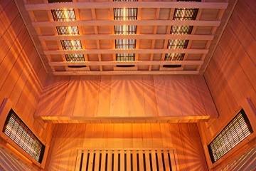 Home Deluxe – Infrarotkabine Redsun XL Deluxe - Vollspektrumstrahler und Karbon-Flächenstrahler, Holz: Hemlocktanne, Maße: 155 x 120 x 190 cm   Infrarotsauna für 2-3 Personen, Infrarot, Kabine - 5