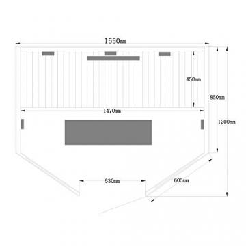 Home Deluxe – Infrarotkabine Redsun XL Deluxe - Vollspektrumstrahler und Karbon-Flächenstrahler, Holz: Hemlocktanne, Maße: 155 x 120 x 190 cm   Infrarotsauna für 2-3 Personen, Infrarot, Kabine - 7