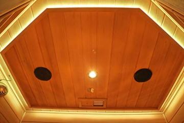 Home Deluxe – Infrarotkabine Redsun XL Deluxe - Vollspektrumstrahler und Karbon-Flächenstrahler, Holz: Hemlocktanne, Maße: 155 x 120 x 190 cm   Infrarotsauna für 2-3 Personen, Infrarot, Kabine - 8
