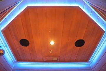 Home Deluxe – Infrarotkabine Redsun XL Deluxe - Vollspektrumstrahler und Karbon-Flächenstrahler, Holz: Hemlocktanne, Maße: 155 x 120 x 190 cm   Infrarotsauna für 2-3 Personen, Infrarot, Kabine - 9