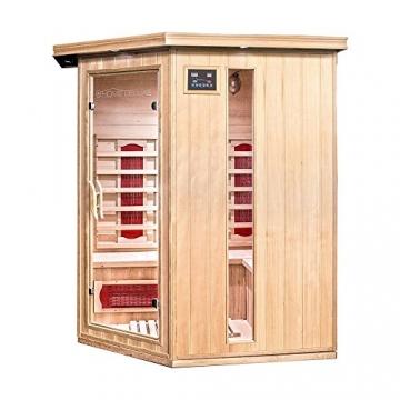 Home Deluxe – Infrarotkabine Redsun XL – Keramikstrahler, Hemlocktanne, Maße: 155 x 120 x 190 cm   Infrarotsauna für 2-3 Personen, Sauna, Infrarot, Kabine - 2