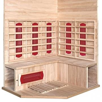Home Deluxe – Infrarotkabine Redsun XL – Keramikstrahler, Hemlocktanne, Maße: 155 x 120 x 190 cm   Infrarotsauna für 2-3 Personen, Sauna, Infrarot, Kabine - 3
