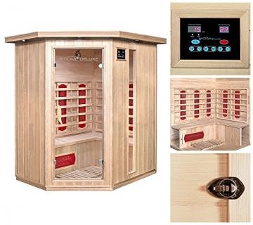 Home Deluxe – Infrarotkabine Redsun XL – Keramikstrahler, Hemlocktanne, Maße: 155 x 120 x 190 cm   Infrarotsauna für 2-3 Personen, Sauna, Infrarot, Kabine - 5