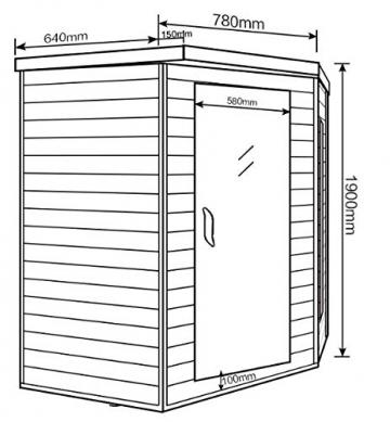 Home Deluxe – Infrarotkabine Redsun XL – Keramikstrahler, Hemlocktanne, Maße: 155 x 120 x 190 cm   Infrarotsauna für 2-3 Personen, Sauna, Infrarot, Kabine - 6