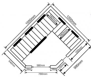Home Deluxe – Infrarotkabine Redsun XL – Keramikstrahler, Hemlocktanne, Maße: 155 x 120 x 190 cm   Infrarotsauna für 2-3 Personen, Sauna, Infrarot, Kabine - 7