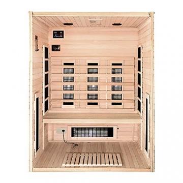 Home Deluxe – Infrarotkabine Sahara L – Vollspektrumstrahler, Holz: Hemlocktanne, Maße: 150 x 120 x 190 cm   Infrarotsauna für 2-3 Personen, Sauna, Infrarot, Kabine - 4