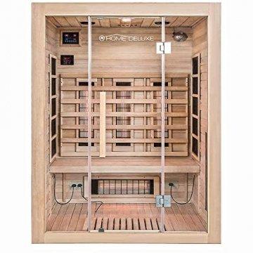 Home Deluxe – Infrarotkabine Sahara L – Vollspektrumstrahler, Holz: Hemlocktanne, Maße: 150 x 120 x 190 cm   Infrarotsauna für 2-3 Personen, Sauna, Infrarot, Kabine - 1