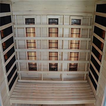 Home Deluxe – Infrarotkabine Sahara L – Vollspektrumstrahler, Holz: Hemlocktanne, Maße: 150 x 120 x 190 cm   Infrarotsauna für 2-3 Personen, Sauna, Infrarot, Kabine - 6