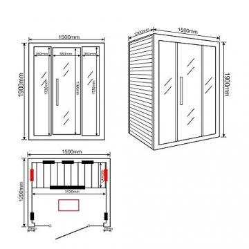 Home Deluxe – Infrarotkabine Sahara L – Vollspektrumstrahler, Holz: Hemlocktanne, Maße: 150 x 120 x 190 cm   Infrarotsauna für 2-3 Personen, Sauna, Infrarot, Kabine - 7