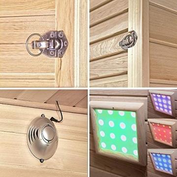 Home Deluxe – Infrarotkabine Sahara L – Vollspektrumstrahler, Holz: Hemlocktanne, Maße: 150 x 120 x 190 cm   Infrarotsauna für 2-3 Personen, Sauna, Infrarot, Kabine - 8