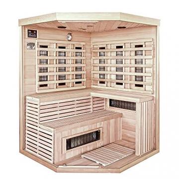 Home Deluxe – Infrarotkabine – Sahara XXL – Vollspektrumstrahler – Holz: Hemlocktanne - Maße: 150 x 150 x 200 cm – inkl. vielen Extras und komplettem Zubehör - 3