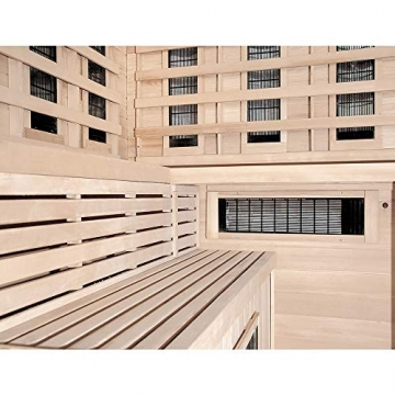 Home Deluxe – Infrarotkabine – Sahara XXL – Vollspektrumstrahler – Holz: Hemlocktanne - Maße: 150 x 150 x 200 cm – inkl. vielen Extras und komplettem Zubehör - 5