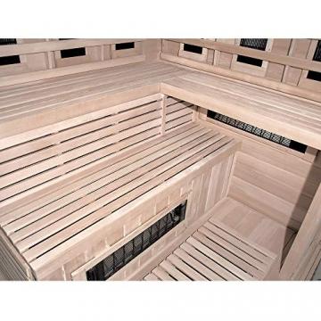 Home Deluxe – Infrarotkabine – Sahara XXL – Vollspektrumstrahler – Holz: Hemlocktanne - Maße: 150 x 150 x 200 cm – inkl. vielen Extras und komplettem Zubehör - 6