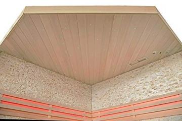 Home Deluxe - Traditionelle Sauna - Skyline XL BIG Kunststeinwand - Holz: Hemlocktanne - Maße: 200 x 200 x 210 cm   Dampfsauna Aufgusssauna Finnische Sauna - 5