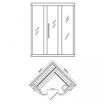 Home Deluxe - Traditionelle Sauna - Skyline XL BIG Kunststeinwand - Holz: Hemlocktanne - Maße: 200 x 200 x 210 cm   Dampfsauna Aufgusssauna Finnische Sauna - 6