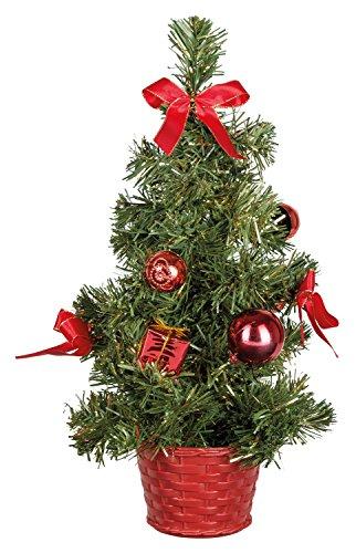 Idena 8582154 - Deko Tannenbaum mit 10 LED warmweiß, mit 6 Stunden Timer Funktion, batteriebetrieben, ca. 35 cm hoch, für die Weihnachts- und Adventszeit - 2