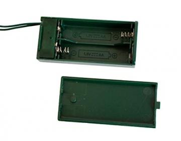 Idena 8582154 - Deko Tannenbaum mit 10 LED warmweiß, mit 6 Stunden Timer Funktion, batteriebetrieben, ca. 35 cm hoch, für die Weihnachts- und Adventszeit - 5