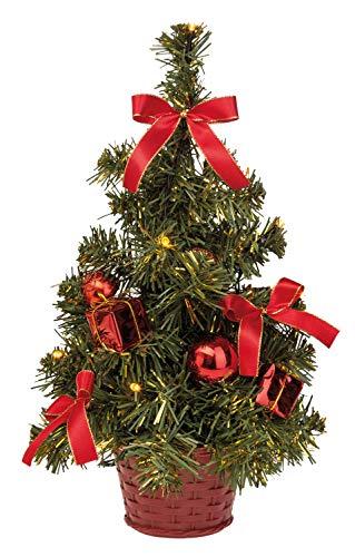Idena 8582154 - Deko Tannenbaum mit 10 LED warmweiß, mit 6 Stunden Timer Funktion, batteriebetrieben, ca. 35 cm hoch, für die Weihnachts- und Adventszeit - 1