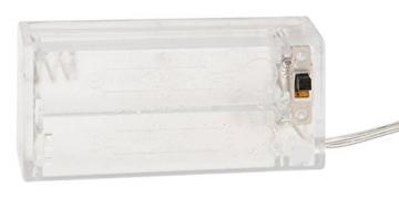 Idena 8585271 - Weihnachtskranz mit 10 LED warmweiß, mit 6 Stunden Timer Funktion, batteriebetrieben, Durchmesser ca. 28 cm, als Deko für Weihnachten, Advent, Türkranz - 4