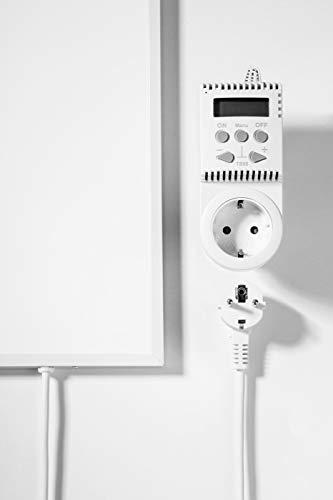 Infrarot Heizung Watt 300 Watt- Deutscher Hersteller - Elektroheizung für Steckdose - 5 Jahre Herstellergarantie- Elektroheizung mit Überhitzungsschutz - Unsere Geräte sind geprüft auf Sicherheit durch Tüv - Sonnenheizung - 3
