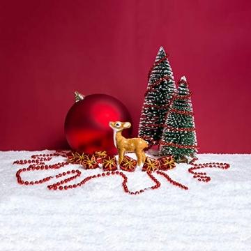 KATELUO 9Stück Mini Grün Tannenbaum,Künstlicher Weihnachtsbaum Miniatur,Mini Weihnachtsbaum Künstlicher,Weihnachtsbaum Schnee Klein mit Holzsockel,für Weihnachtsdeko/Tischdeko/DIY/Schaufenster,3Größen - 2