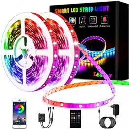 L8star LED Strips 20M, RGB Smart LED Streifen Farbwechsel LED Band, Musik Sync LED Lichterkette mit Fernbedienung und App-steuerung, für Leiste, Zuhause, Schlafzimmer, Küche, Party - 1