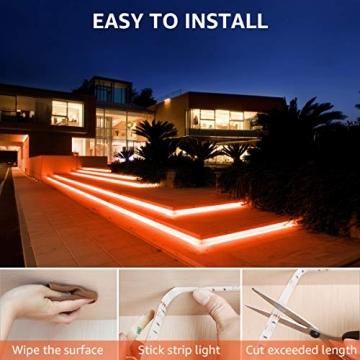 LE LED Strip Lichtband,10m (2x5m) RGB LED Streifen Band, 5050 SMD LED stripes, LED Lichterkette mit 44 Tasten Fernbedienung, verstellbare Helligkeiten RGB Farbwechsel Strip für Haus, Party, Bar, TV - 7