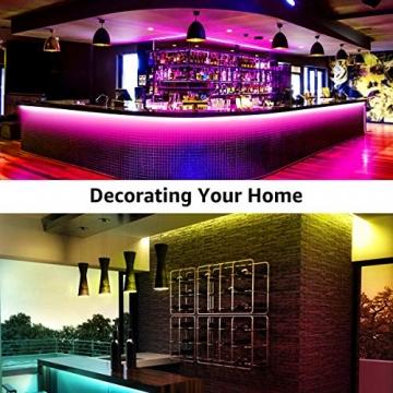 LE LED Strip Lichtband,10m (2x5m) RGB LED Streifen Band, 5050 SMD LED stripes, LED Lichterkette mit 44 Tasten Fernbedienung, verstellbare Helligkeiten RGB Farbwechsel Strip für Haus, Party, Bar, TV - 9