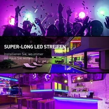 Led Strip 20m, 5050 RGB Led Streifen Selbstklebend mit Fernbedienung und APP 16 Mio. Farben, Led Kette Farbwechsel Led Lichterkette Sync mit Musik für Zuhause, Schlafzimmer, Küche, Party (20m) - 2