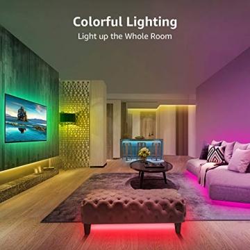 Lepro LED Strip 20M (2x10M), LED Streifen Lichterkette mit Fernbedienung, Band Lichter, RGB Dimmbar Lichtleiste Light, Lichtband Leiste, Bunt Kette Stripes für Party Weihnachten Deko - 2