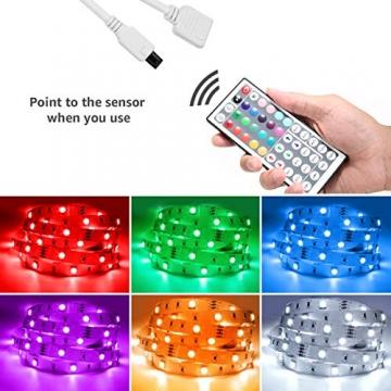 Lepro LED Strip 20M (2x10M), LED Streifen Lichterkette mit Fernbedienung, Band Lichter, RGB Dimmbar Lichtleiste Light, Lichtband Leiste, Bunt Kette Stripes für Party Weihnachten Deko - 4