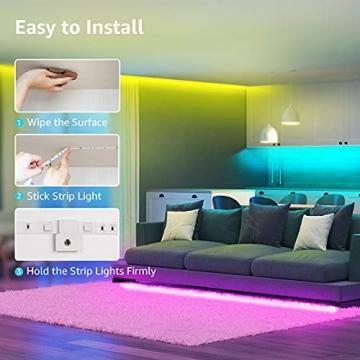 Lepro LED Strip 20M (2x10M), LED Streifen Lichterkette mit Fernbedienung, Band Lichter, RGB Dimmbar Lichtleiste Light, Lichtband Leiste, Bunt Kette Stripes für Party Weihnachten Deko - 6