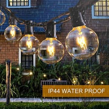 Lichterkette Außen FOCHEA Lichterkette Glühbirnen G40 11m 30er Globe LED Birnen Lichterkette Garten IP44 Wasserdichte für Weihnachten Hochzeit Party Aussen Dekoration Warmweiß - 4