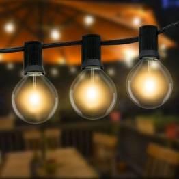 Lichterkette Außen,Litogo 10.5m G40 Lichterkette Glühbirnen Außen Strom mit 27 Große LED Birnen, Wasserdichte Retro Outdoor Lichterkette Balkon deko für Garten, Terrasse, Partys, Hochzeiten-Warmweiß - 1