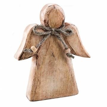 Logbuch-Verlag Holzengel Engel Figur Holz Schutzengel Weihnachten Glücksbringer Vintage Deko - 1