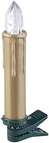 Lunartec Christbaumkerzen LED: FUNK-Weihnachtsbaum-LED-Kerzen, Fernbedienung, 30er-Set, golden (Weihnachtsbaumbeleuchtung Funk) - 8