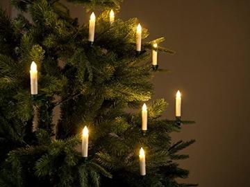 Lunartec LED Weihnachtsbaumkerzen: 20er-Set LED-Weihnachtsbaum-Kerzen mit IR-Fernbedienung, Timer, weiß (Elektrische Kerzen Weihnachtsbaum) - 2