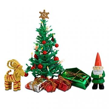 Lundby 60-604700 - Weihnachtsdeko Christbaum mit LED-Licht Puppenhaus - 7-teilig - Puppenhauszubehör - Weihnachtsbaum - Weihnachtsmann - Zubehör - ab 4 Jahre - 11 cm Puppen - Minipuppen 1:18 - 4