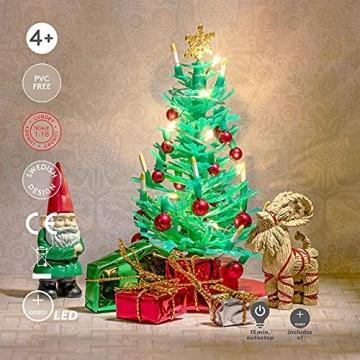 Lundby 60-604700 - Weihnachtsdeko Christbaum mit LED-Licht Puppenhaus - 7-teilig - Puppenhauszubehör - Weihnachtsbaum - Weihnachtsmann - Zubehör - ab 4 Jahre - 11 cm Puppen - Minipuppen 1:18 - 6