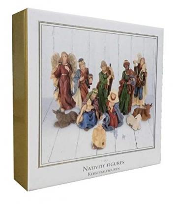 made2trade Hochwertige Figuren für die Weihnachtskrippe - 11 Teilig - 4